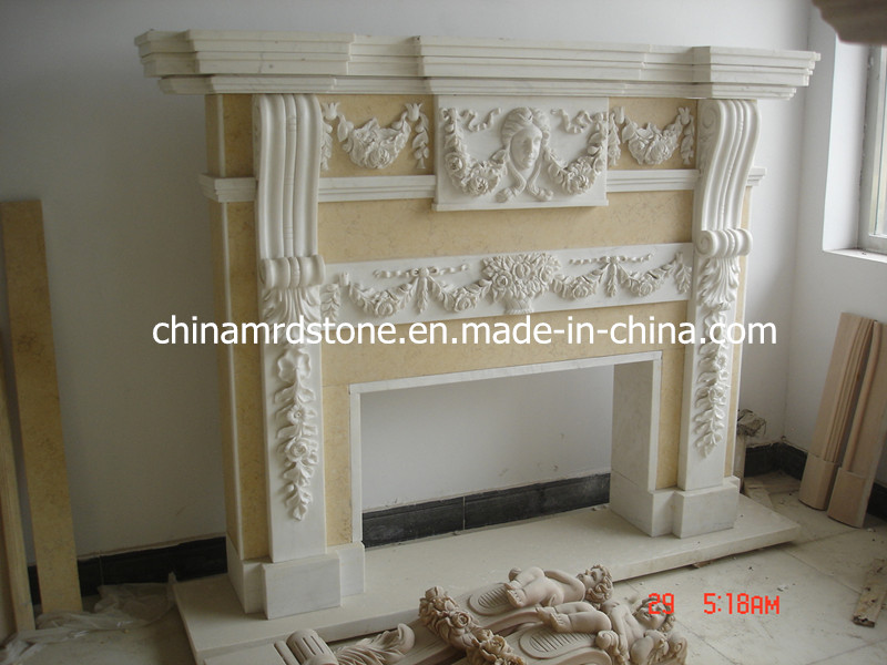 Modificar Marble para requisitos particulares Stone Mantel para Various Style