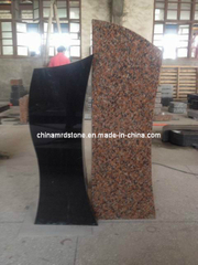 Red negro Granite Monument Stone para Memorial