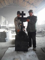 Monument cruzado con Hebei Black Granite