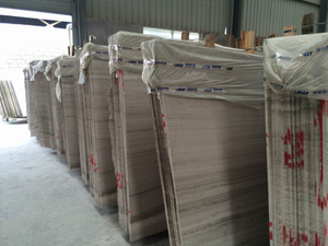 Wooden de mármol Grey Big Slabs para Decoration