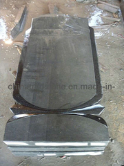 Shanxi Black Granite Upright Tombstone y Monument con Rusia Style