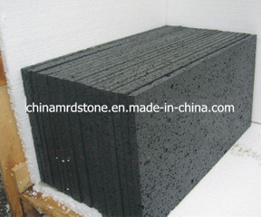 Black natural Lava Stone con Micro Holes para Pavers