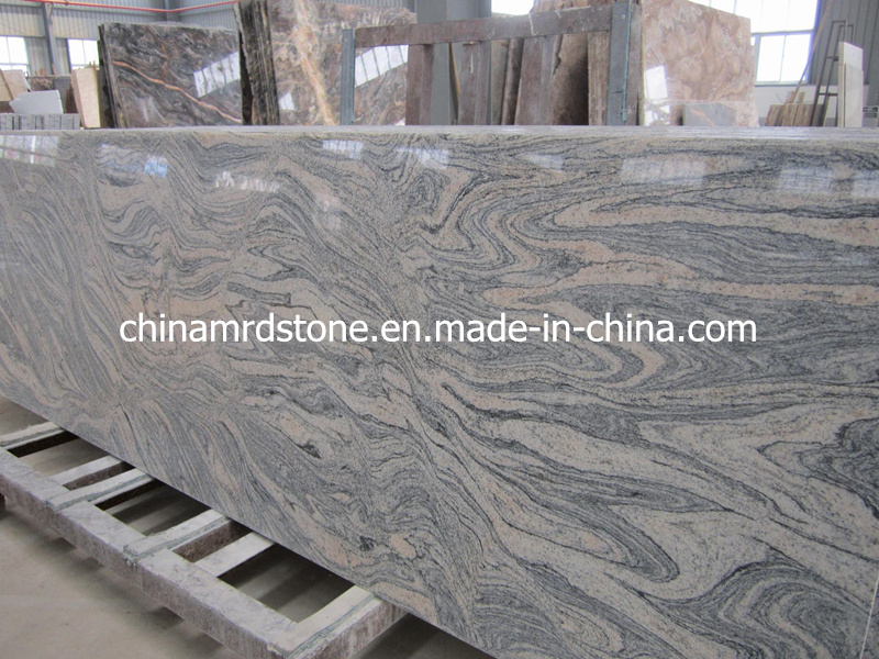 China Juparana/Wave Sand Granite Slab para Paving o Countertop