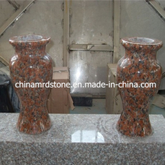 China Granite Flower Vase como Tombstone y Funeral Accessories