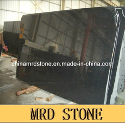 Polished grande Slabs de Black Granite (Black Galaxy)