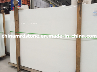 Pure popular White Crystallized Glass Panel para Market americano