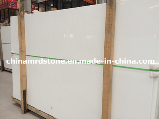 Sale caliente Pure White Crystallized Glass para Countertop Slab