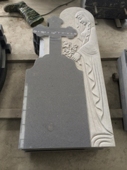 G654 Dark Grey Granite Headstone para Monuments