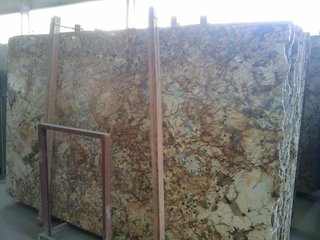 China Stone Granite y Marble Big Slabs (Beisa Gold)