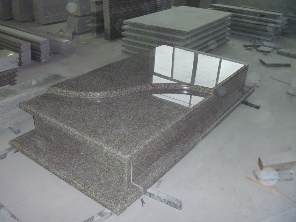 G664 Bainbrook Brown Granite Tombstone y Monument para Polonia