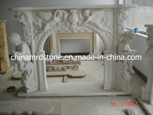 Modificar Natural para requisitos particulares White Marble Fireplace para Style europeo