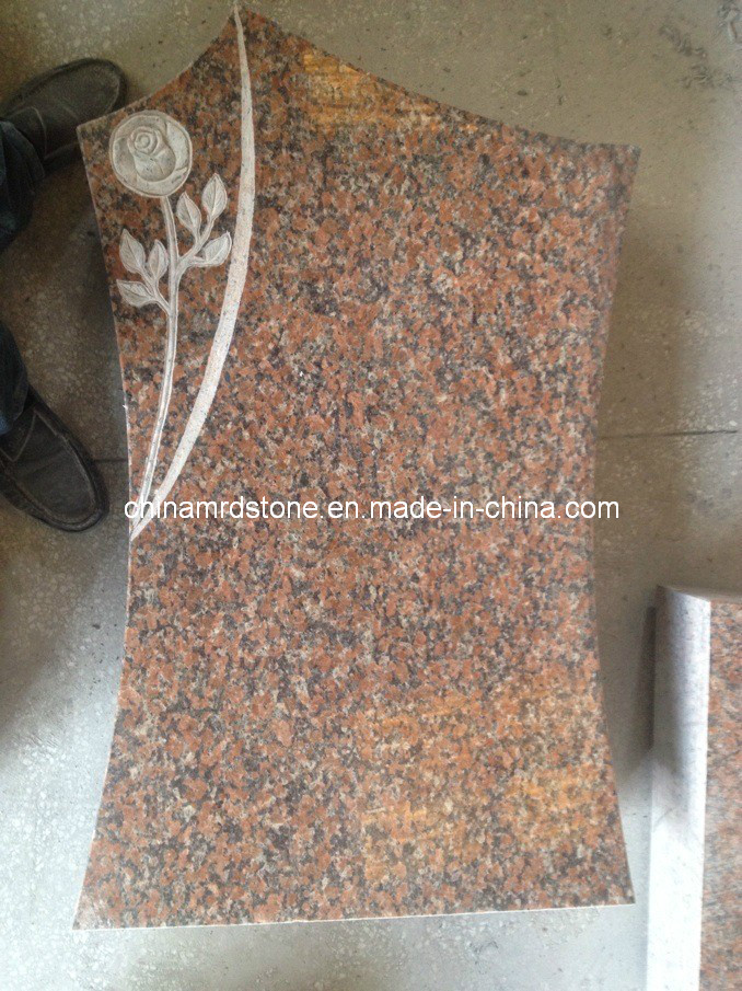 Talla de Headstone con Granite Maple Red