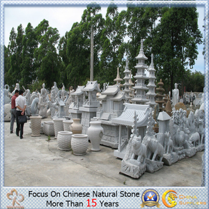 Granite moderno Abstract Sculpture para Buddha/Animal/Figure/Lantern