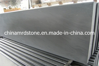 Natural de calidad superior Honed Black Slate Slab para Paving