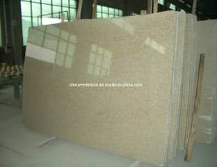G682 Rusty Yellow Granite Slab para external Wall