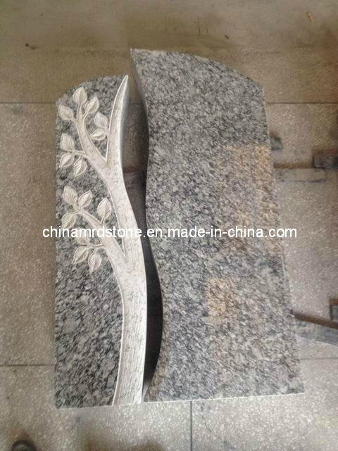 Talla de Tomb Stone con Wave White Granite