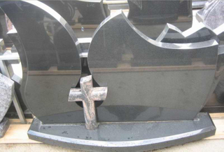 Granite negro Headstone con Powerful Price