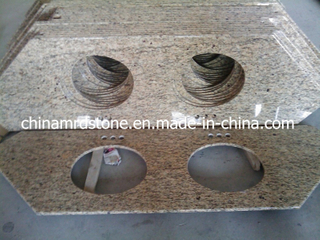 Modificar Natural para requisitos particulares Granite para Double Sink Vanity Top