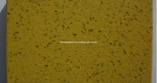 Crystal amarillo Glass Quartz para Countertop